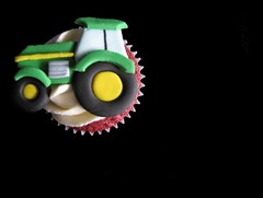 Red Tractor Cupcake Cake