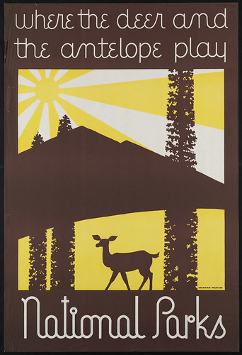 Where the deer and the antelope play. National Parks | by Boston Public Library