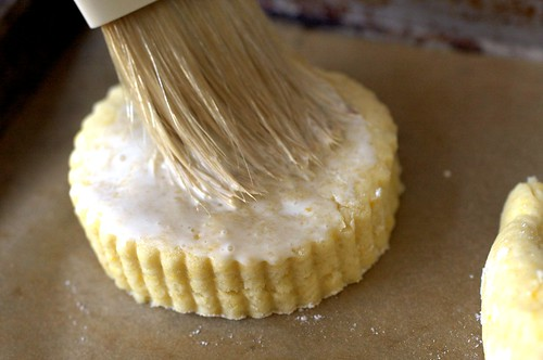 brushing shortcakes with cream | by smitten kitchen