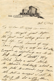 Jack Trice Letter page 1 | by Special Collections & University Archives (ISU)