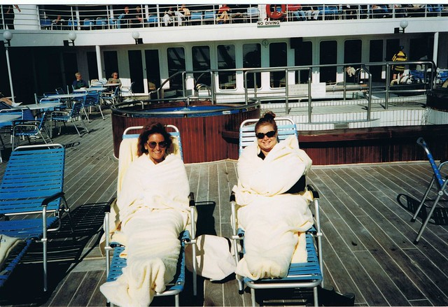 QE2 Transatlantic on Deck 1996