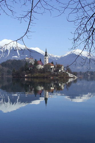 Bled and Julian Alps in the background, Slovenia | by mirci