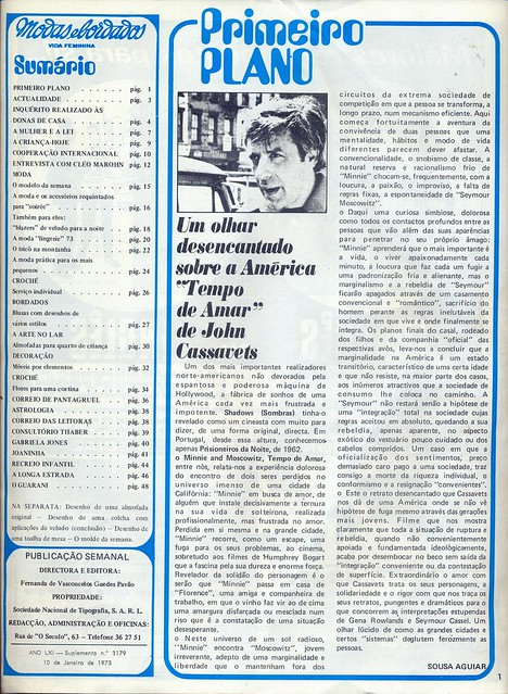 Modas e Bordados, No. 3179, January 10 1973 - 2