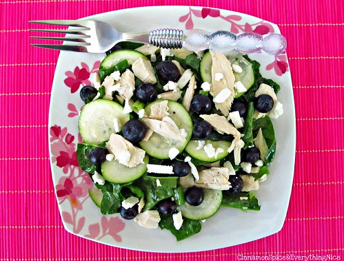Zucchini, Chicken and Blueberry Salad | by CinnamonKitchn