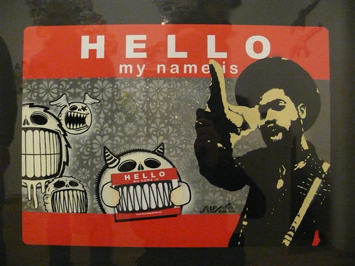 Hello my name is... nestdafoe-Sticker | by urbanartcore.eu
