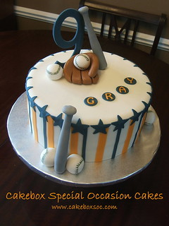 Baseball Cake for Gray | by Cakebox Special Occasion Cakes