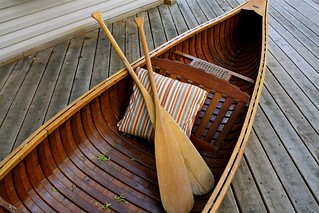 wood / canvas canoe (1950's, made in Wisconsin) | by bredlo