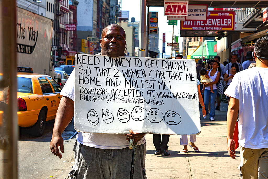 NEED MONEY TO GET DRUNK--Chinatown, New York 2