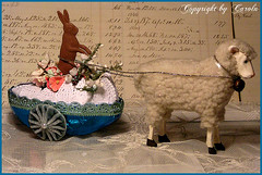 Bunny & Lamb Easter carriage | by Boxwoodcottage