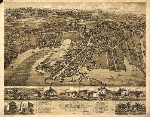 View of Essex, Centerbrook & Ivoryton, Conn. 1881. | by uconnlibrariesmagic