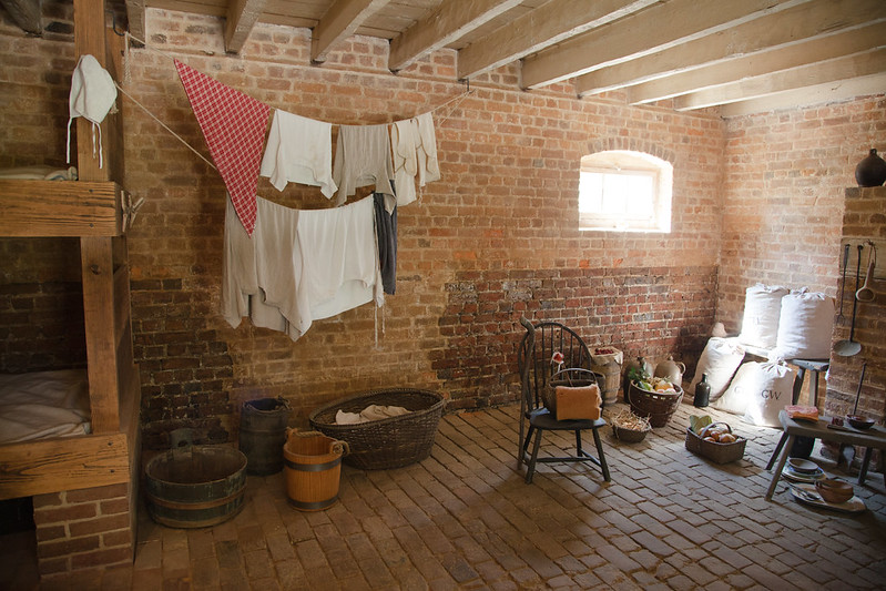 George Washington's Mount Vernon - Slave quarters. Photo: Caitlin Childs.