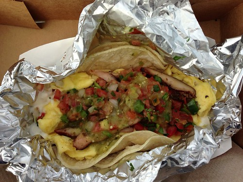 Gott's smoked chicken and egg tacos | Thomas Vander Wal | Flickr