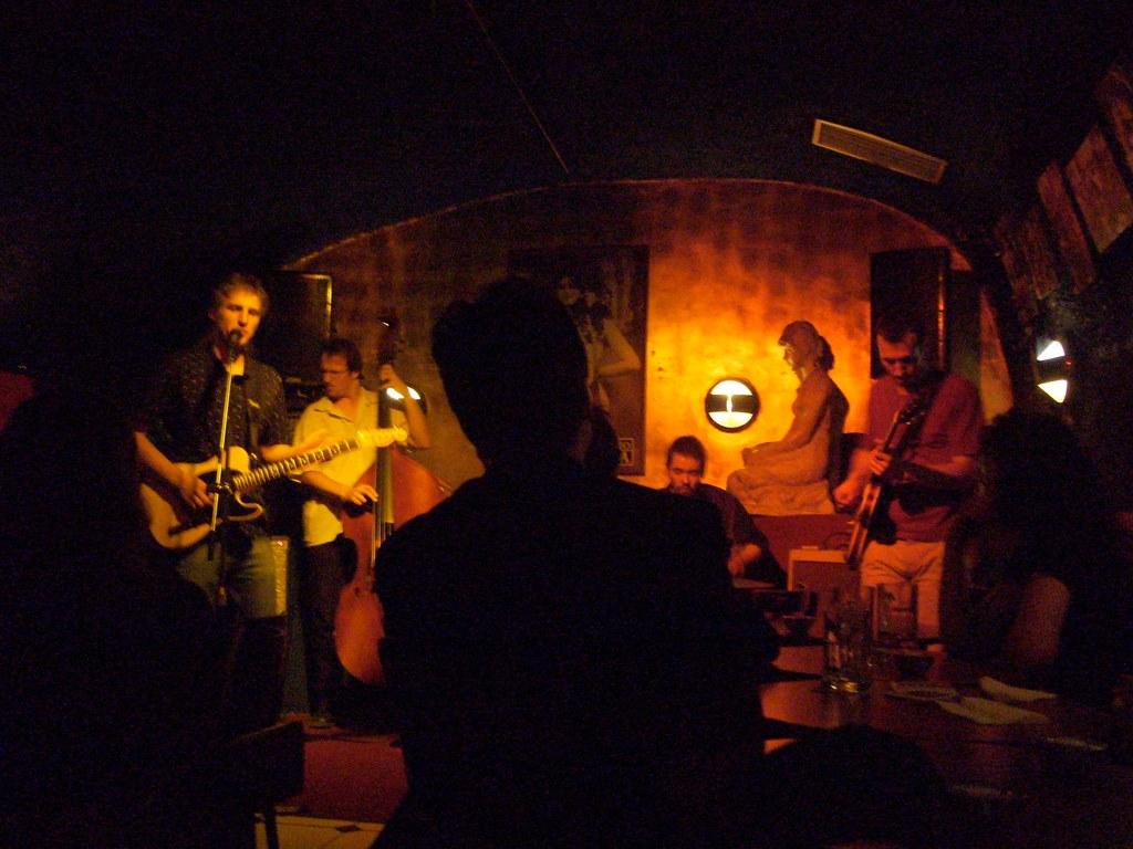 Club de jazz U Malého Glena dans le quartier de Mala Strana à Prague.