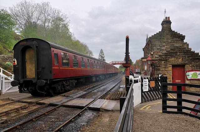 Train at Goathland station