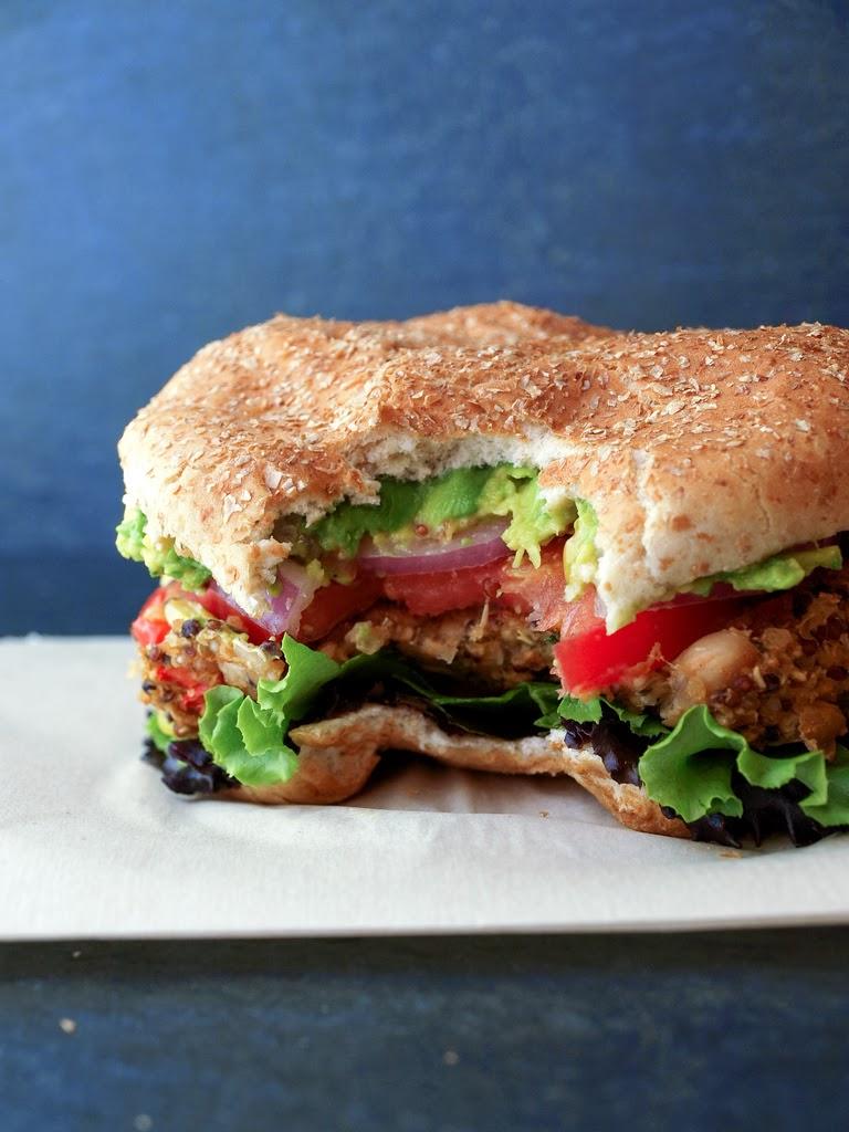 Quinoa & White Bean Veggie Burgers...Eat like you mean it!
