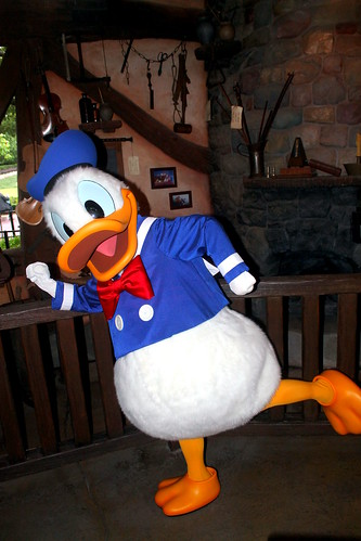 Meeting Donald Duck Taken On May 2 2013 At The Queue