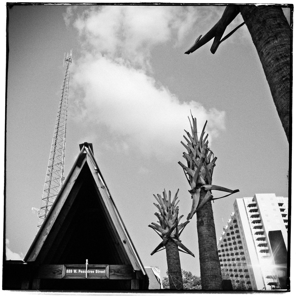 Tiki Palms and Tower, Midtown Atlanta
