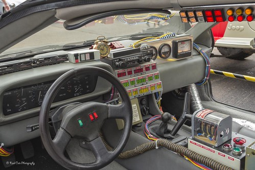 delorean interior back to the future coffee and cars car flickr. Black Bedroom Furniture Sets. Home Design Ideas