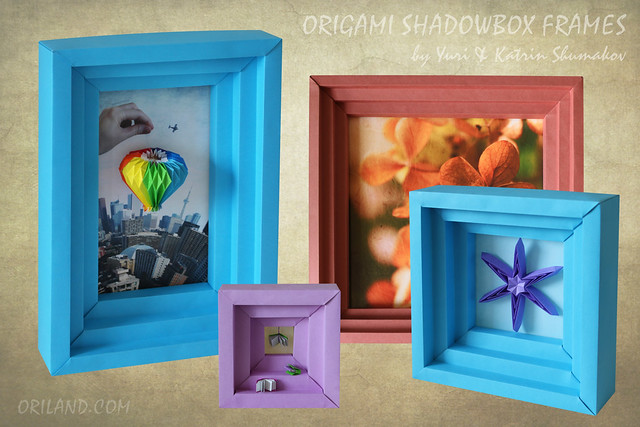 Origami Shadowbox Frames