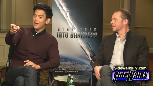 johncho-Interview: John Cho and Simon Pegg (Star Trek Into Darkness)