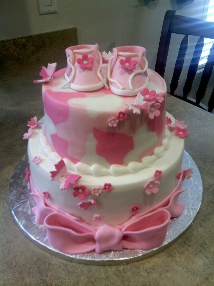 Pink Baby Camo Cakes