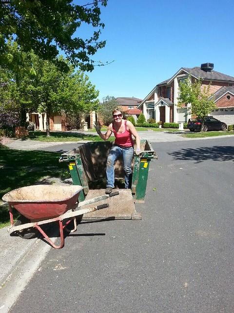 3m3 #skip bin on a road in Glen Waverley, Vic
