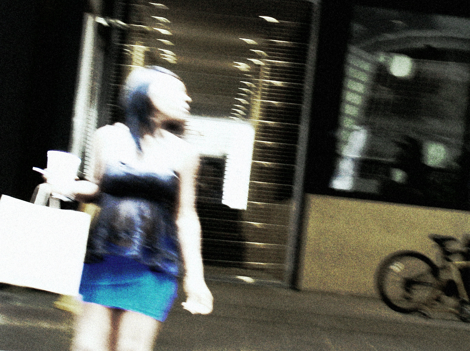 Woman in Blue Skirt, Downtown Atlanta