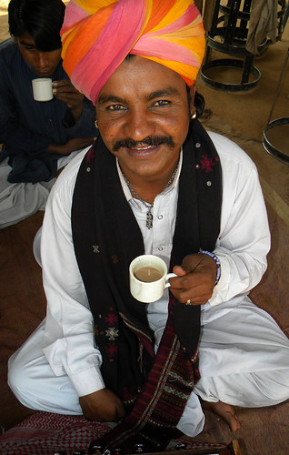 a Cup of Chai in a Village near Udaipur