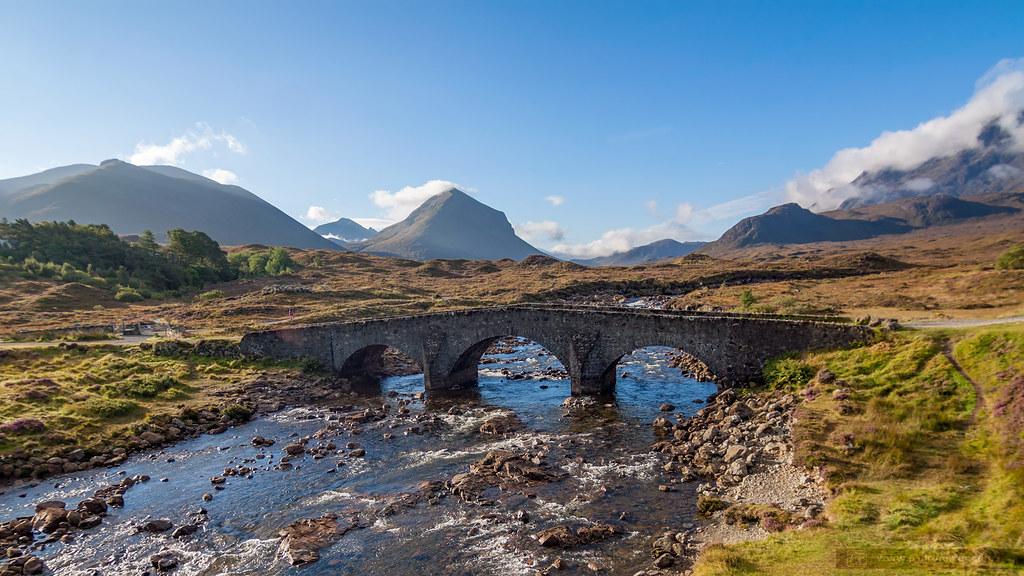 Puente Sligachan - Isla de Skye - Escocia
