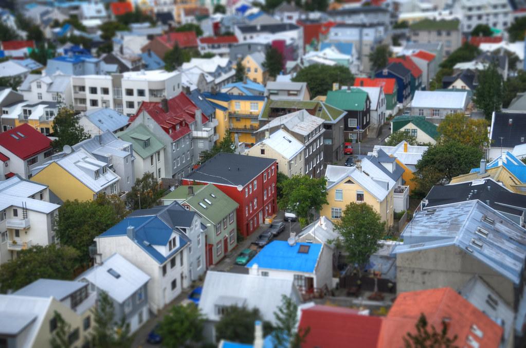Reykjavik, Iceland Tilt-Shift HDR