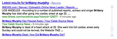 brittany murphy - real time results | by search-engine-land