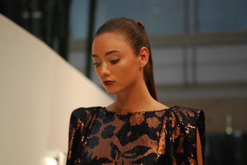 Bronze metallic dress close-up - Arthur Galan