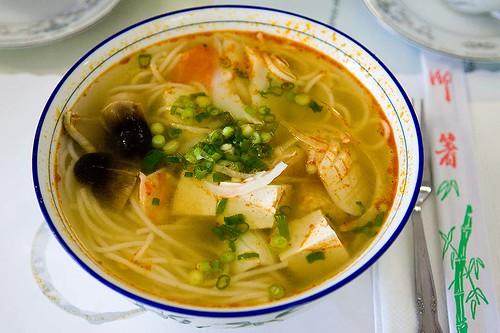 Thai Seafood Noodle Soup Hu Tieu Do Bien Thai Lan