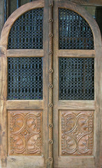 Door with carved panels, Santa Fe, New Mexico | by cocoi_m