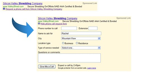 Google AdWords Contact Form | by rustybrick
