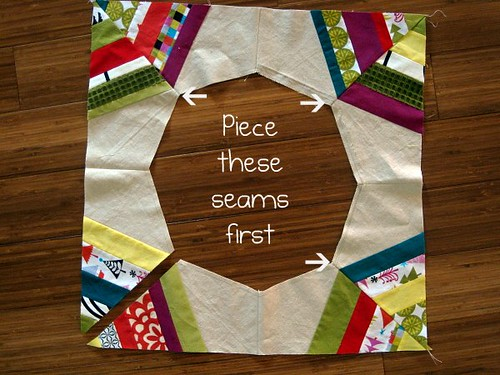 Christmas Tree Skirt Piecing 3b | by StitchedInColor