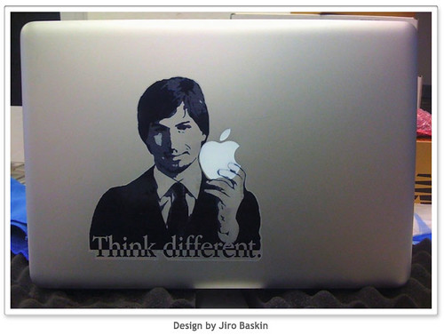 Steve Jobs Vinyl MacBook Decal | by Photo Giddy