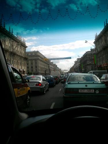 Ограничено движение на востоке Москвы.