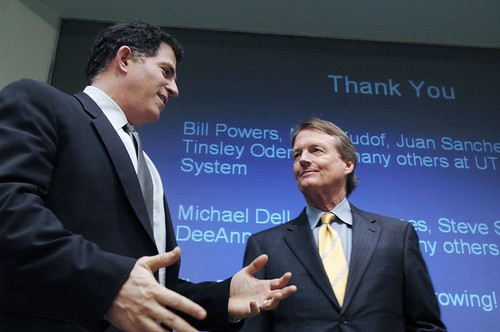 With alumnus Michael Dell | by Tower Talk