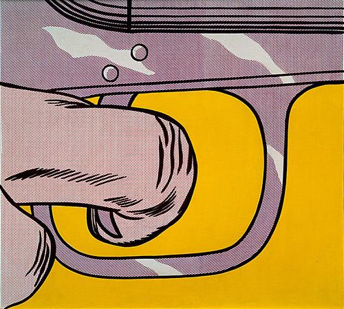 Roy lichtenstein 1963 trigger finger oil on magna on - Roy lichtenstein cuadros ...