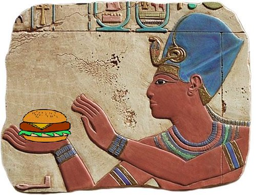 Pharaoh Seti I Offering a Burger to the Gods, Temple of Abydos, 1300 BC | by Mike Licht, NotionsCapital.com