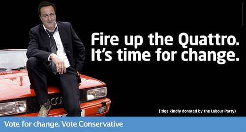 """Fire up the Quattro. It's time for change."" 