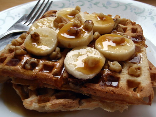 Banana Bread Waffles | by joyosity