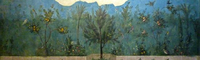 Jardí, fresc de la vil·la de Lívia, Museo Nazionale Romano (Palazzo Massimo alle Terme), Roma (5)