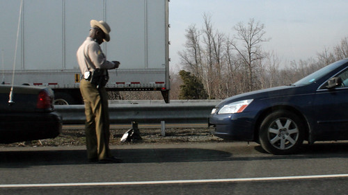 police trooper writing a ticket | by woodleywonderworks