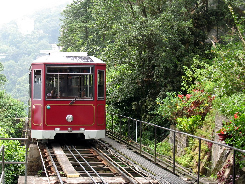 Tram to Victoria Peak on Hong Kong side. Image: Philip Roeland, CC