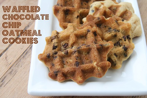Waffled Chocolate Chip Oatmeal Cookies | by Food Librarian