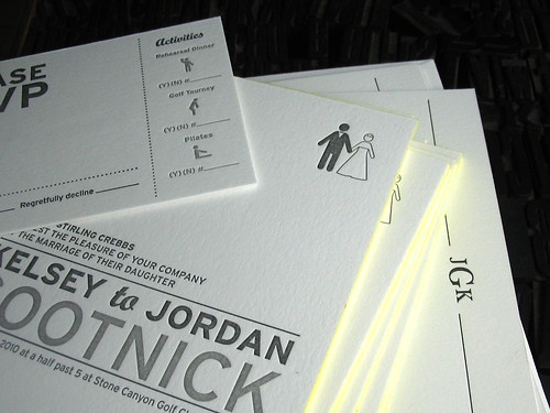 wedding :: gootnick | by paperedtogether letterpress