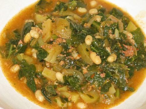 Kale & Chorico Soup | A hearty,Portuguese style soup for din ...