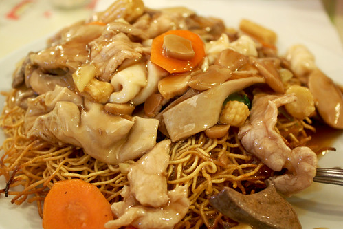 Lo Mein with Chicken and Squid | by nooschi